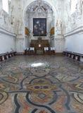 Dentro da igreja da oratória de Saint Lorenzo com um pavimento espetacular a Palermo, Sicília Italy foto de stock royalty free