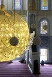 Dentro da mesquita de Kocatepe em Ancara Turquia Foto de Stock Royalty Free
