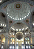 Dentro da mesquita de Kocatepe em Ancara Turquia Fotografia de Stock
