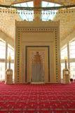 Dentro da mesquita, ` do coração do ` s da mãe do ` em Chechnya Imagem de Stock Royalty Free