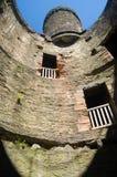 Dentro da torre de vigia do castelo Fotografia de Stock