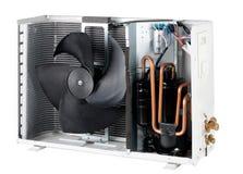 Dentro da unidade de condensação do ar Fotografia de Stock Royalty Free