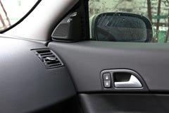 Dentro de al aire libre interior del coche Imágenes de archivo libres de regalías