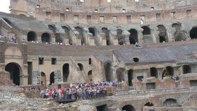 dentro de Colosseum, Roma, Italia, 4k metrajes