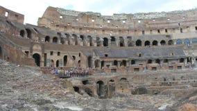 dentro de Colosseum, Roma, Italia, 4k almacen de video