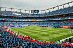 Dentro de Denver Broncos Stadium Fotos de Stock Royalty Free
