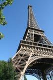 Dentro de Eiffel Imágenes de archivo libres de regalías