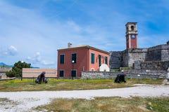 Dentro de fortaleza vieja, Corfú, Grecia Imagen de archivo