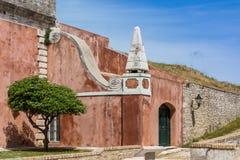Dentro de fortaleza vieja, isla de Corfú, Grecia Imagen de archivo