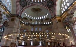 Dentro de gran mezquita Foto de archivo