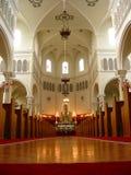 Dentro de iglesia Imágenes de archivo libres de regalías