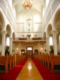 Dentro de iglesia fotos de archivo