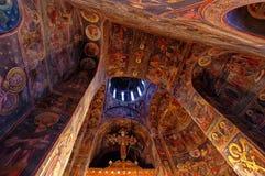 Dentro de iglesia ortodoxa Imagen de archivo libre de regalías