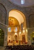 Dentro de la abadía de Dormition en Jerusalén, Israel Imagenes de archivo