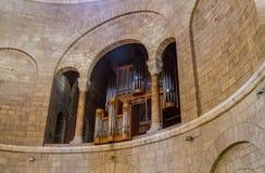 Dentro de la abadía de Dormition en Jerusalén, Israel Imagen de archivo libre de regalías
