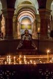 Dentro de la abadía de Dormition en Jerusalén, Israel Imagen de archivo