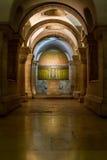 Dentro de la abadía de Dormition en Jerusalén, Israel Fotografía de archivo