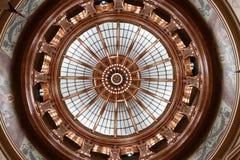Dentro de la bóveda 2015 del capitolio del estado de Kansas Imágenes de archivo libres de regalías