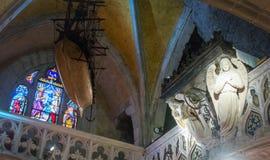 dentro de la capilla de Rocamadour Fotos de archivo