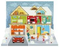 Dentro de la casa (invierno) libre illustration