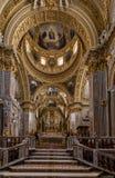 Dentro de la catedral de la basílica en Monte Cassino Abbey Italia Imagen de archivo libre de regalías