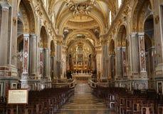 Dentro de la catedral de la basílica en Monte Cassino Abbey Italia Fotos de archivo libres de regalías