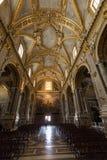 Dentro de la catedral de la basílica en Monte Cassino Abbey Italia Fotografía de archivo