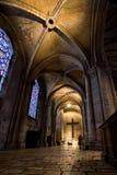 Dentro de la catedral de Chartres Imagen de archivo libre de regalías