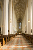 Dentro de la catedral de la iglesia de nuestra señora Munich Fotos de archivo