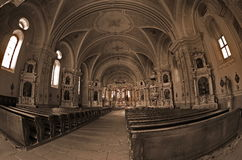 Dentro de la catedral de Sumuleu Foto de archivo