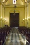 Dentro de la catedral en la plaza de Armas en Lima, Perú Imagenes de archivo
