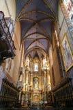 Dentro de la catedral latina en Lviv imagen de archivo libre de regalías