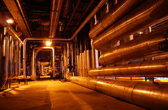 Dentro de la central eléctrica Fotos de archivo libres de regalías