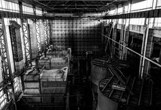 Dentro de la central eléctrica Imagen de archivo