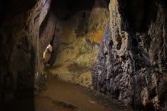 Dentro de la cueva imagenes de archivo