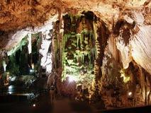 Dentro de la cueva de San Miguel en Gibraltar Fotos de archivo libres de regalías