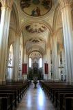 Dentro de la iglesia alemana de la asunción Imagen de archivo libre de regalías