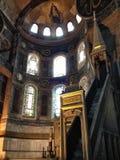 Dentro de la iglesia de la mezquita de Hagia Sophia Foto de archivo