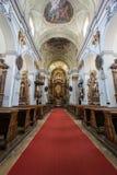 Dentro de la iglesia de Mariahilf foto de archivo libre de regalías