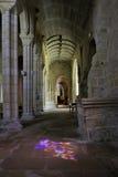 Dentro de la iglesia de Pont-Croix Fotos de archivo libres de regalías