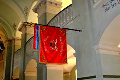 Dentro de la iglesia fortificada medieval Cristian, Transilvania Fotografía de archivo libre de regalías