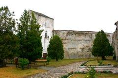 Dentro de la iglesia medieval fortificada Ghimbav, Transilvania Foto de archivo