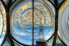 Dentro de la linterna del faro, Sousse Fotos de archivo