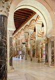 Dentro de la Mezquita de Córdoba, España Imagen de archivo libre de regalías