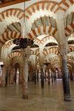 Dentro de la Mezquita de Córdoba, España Foto de archivo libre de regalías