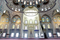 Dentro de la mezquita de Kocatepe Fotos de archivo