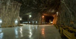 Dentro de la mina de sal imágenes de archivo libres de regalías