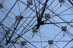 Dentro de la pirámide del Louvre Imagen de archivo libre de regalías