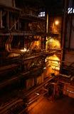 Dentro de la planta de la corriente eléctrica Foto de archivo libre de regalías