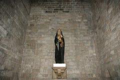 Dentro de la Santa María Del Mar, Barcelona Foto de archivo libre de regalías